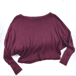 Brandy Melville Maroon Blouse One Size